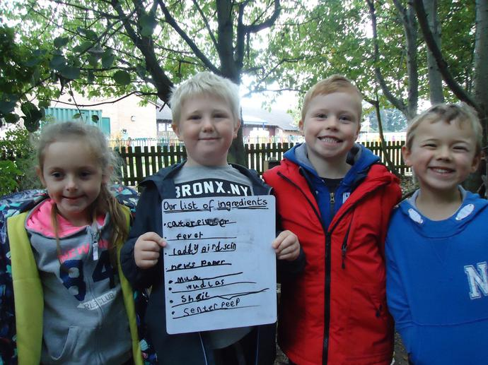 Reading minibeast poems helped us to write our own outdoors.