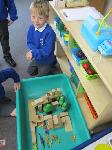 Making a dinosaur world.