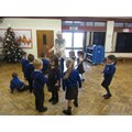 We did some Nativity drama in the hall.