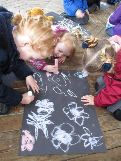 We drew some Rangoli patterns.
