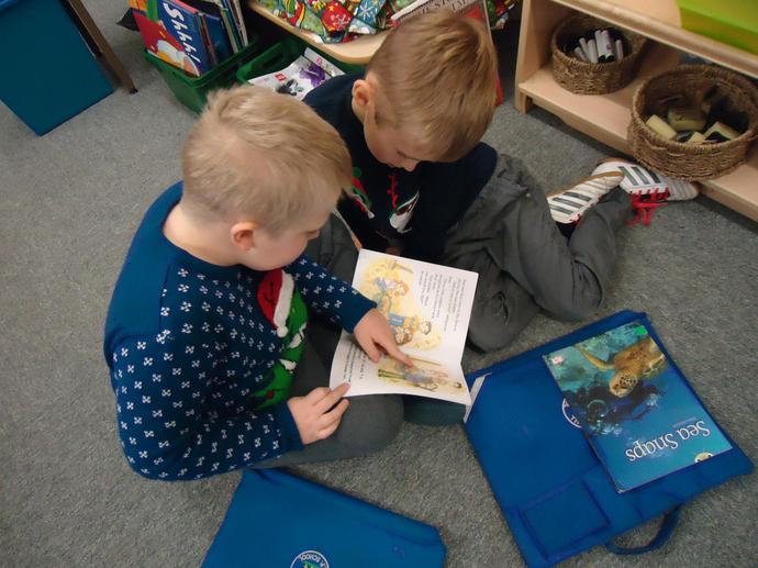 Partner reading.