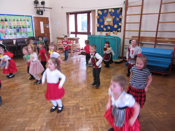 We had fun dancing in the hall.