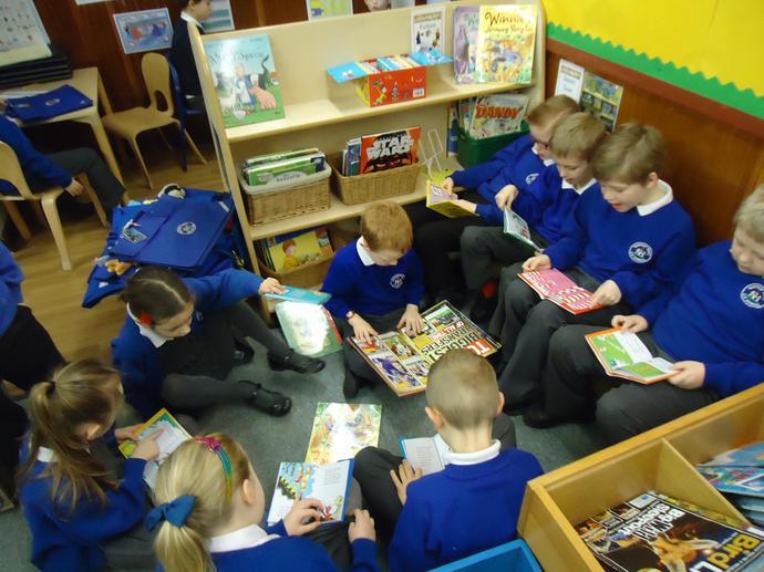 Our book corner is very popular!
