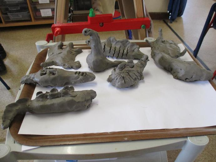 Some of our clay models.