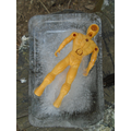 Help - our action figures are trapped in ice.