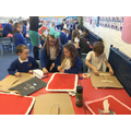 We made our own Roman shields, swords and helmets.