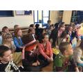 We enjoyed the KS1 assembly. Thanks Burgular Bill!