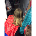 SuperGirl Bailey solved the last clue to find her.