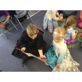 Sharing a book with Reception children
