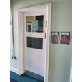 Nursery door.