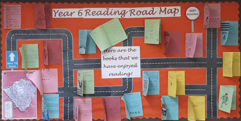 Year 6 reading road map display