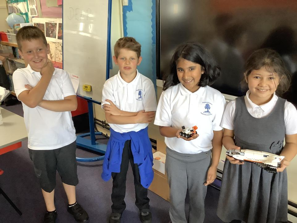 Marian, Gavriil, Seiya and Merve worked hard with Ms Jarrett at breaktime.