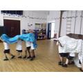 We did Chinese dragon dancing in PE!