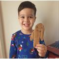 Samir made a Gingerbread Man!