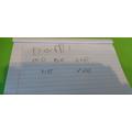 Dami practised his spellings!