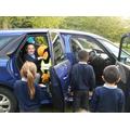 We explored Sally's car!