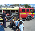 The fire brigade came to visit us!