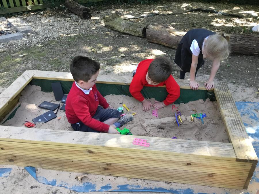 In our new sand pit