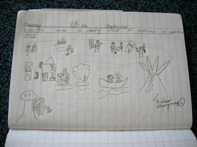 Amelia's story map