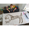 Amazing stick dinosaur by Max!