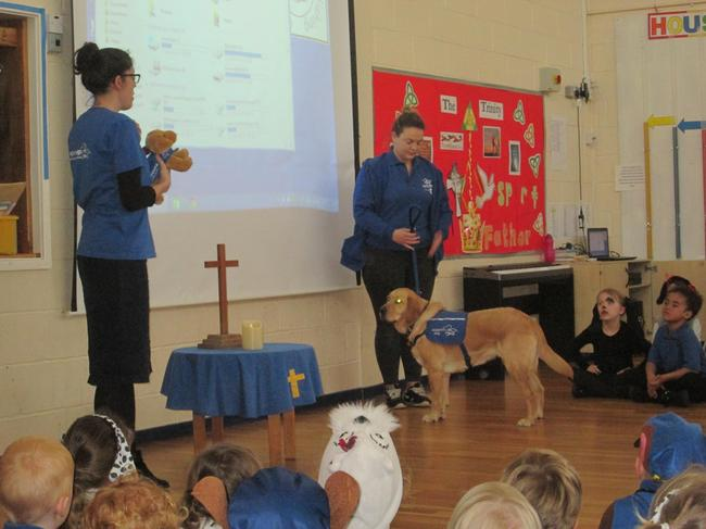 Year 3 and Year 1 won a Support Dogs cuddly toy