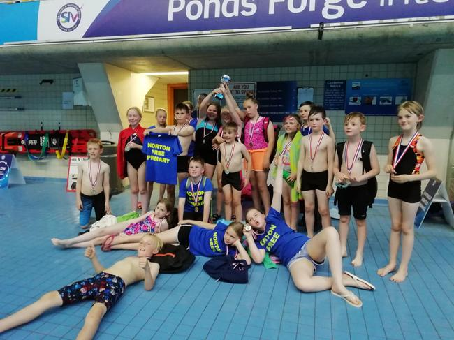 Winners of Division B in the 2019 Swimming Gala
