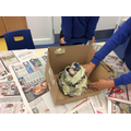 Our WOW day - constructing the volcanoes.
