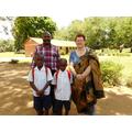 Mr Ugula and 2 of his children