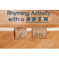 Spin the kitchen roll tube to make new words.