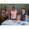 Mr Ugula translating for the teachers