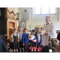 Rev Katherine gave Polly a certificate