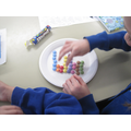 We used Smarties to create bar graphs.