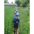 We walked across the firlds
