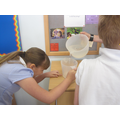 We measured the water using ml.
