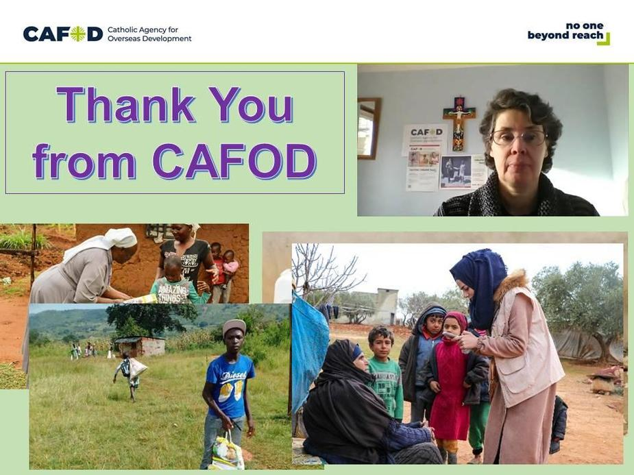 £400 raised for Cafod's refugee fund through our MUFTI day in November.