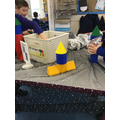 Can you build a rocket using 3D shapes?