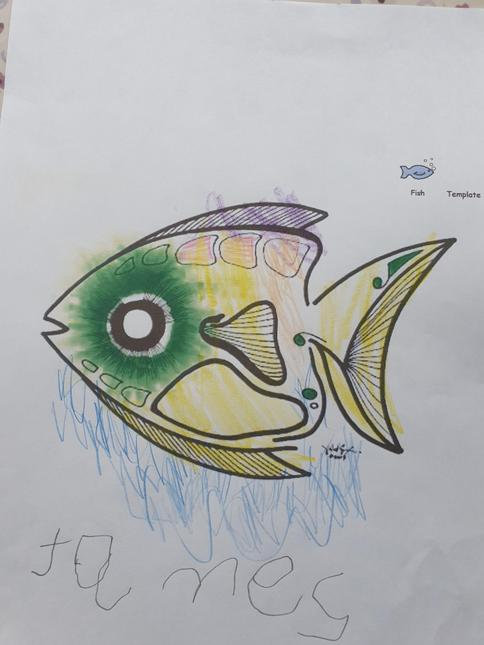 James' fish in the style of Vincent Scarpace