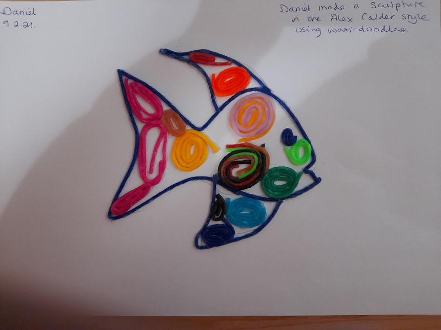 Daniel's fish, inspired by Alex Calder