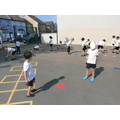 We have been practising our throwing and catching skills in PE