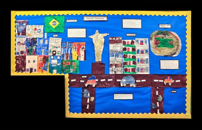 Year 2 studied the human and physical features of places in South America.