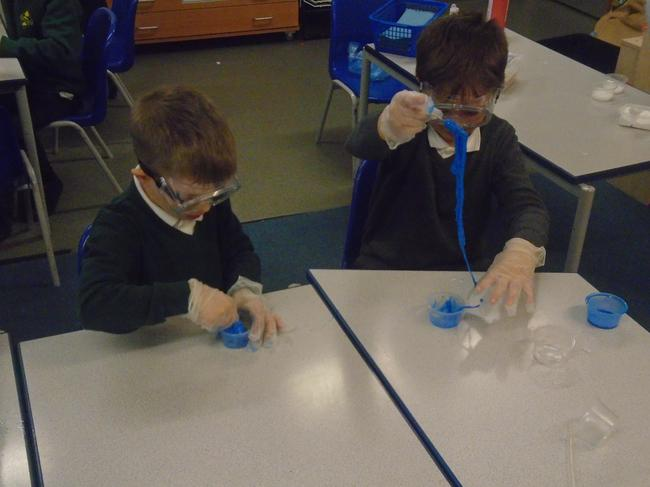 Children doing experiments