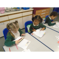Working hard during our independent learning activity
