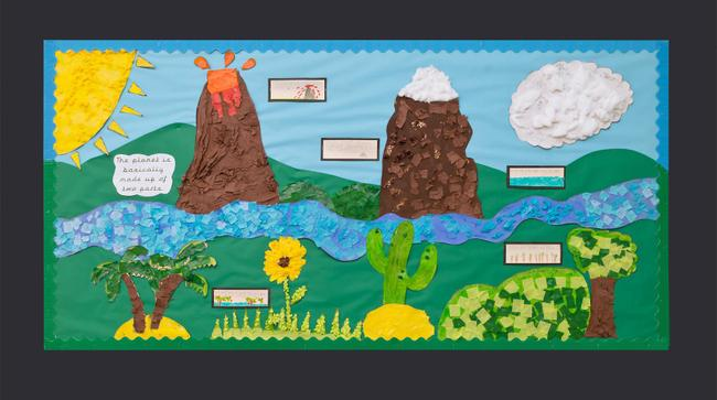 """The planet is basically made up of two parts – land and water."" By Sycamore Class"