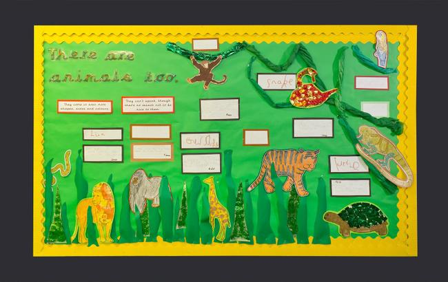 """There are animals, too. They come in even more shapes, sizes and colours."" By Birch Class"