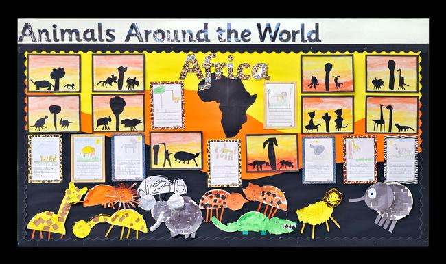 Nursery and Reception learn about animals from all around the world.