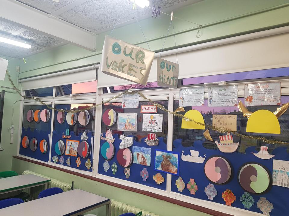 Our fabulous History display: what's the topic? You guess mum, dad & carers!
