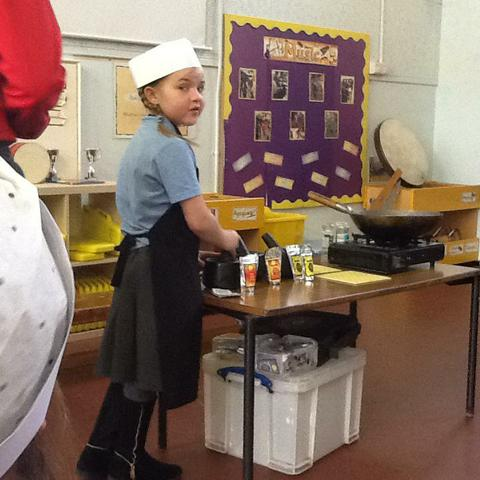 We helped the Fun Food Chef.