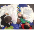 The children loved reading stories to each other