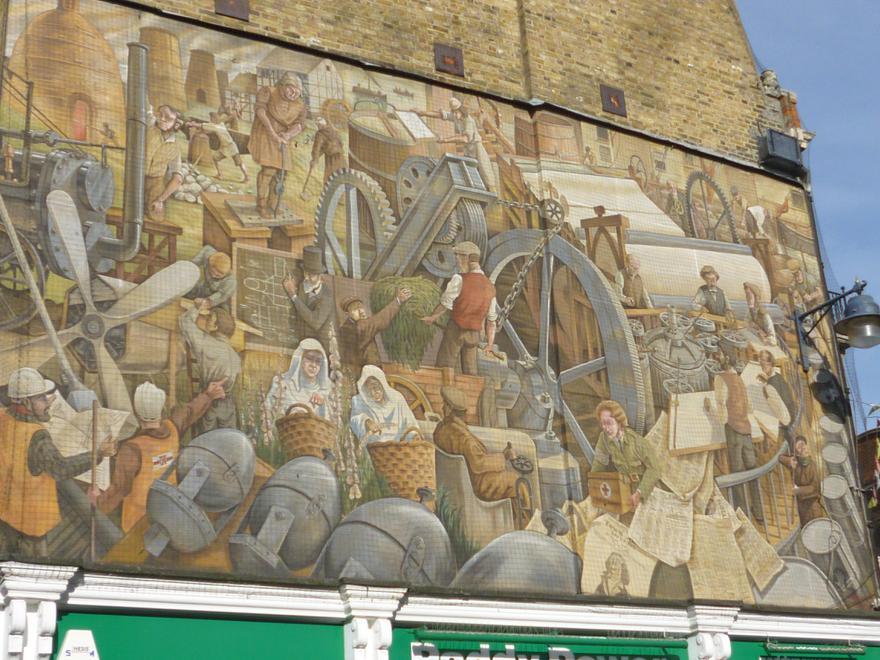 Dartford's Industry Mural, One Bell Corner