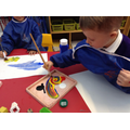 We have been learning how to use the paints!